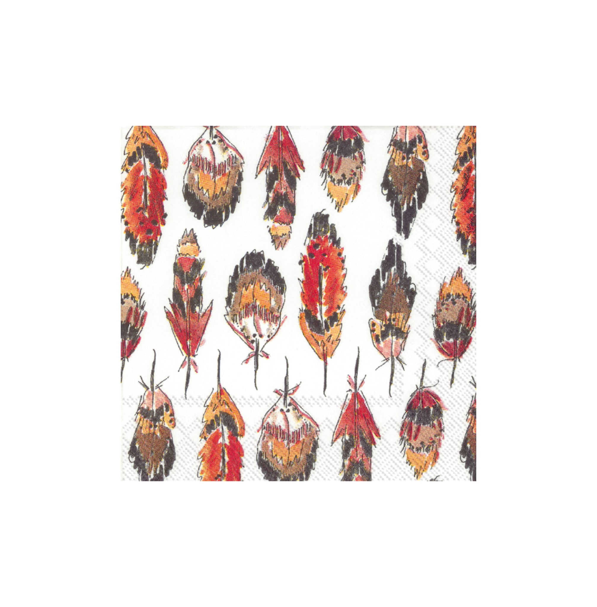 Feathers - Fall/Thanksgiving Paper Napkins