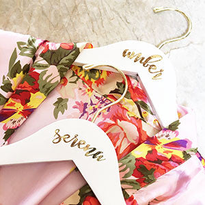 Personalized Bridal Party Hanger - Tulle and Twig