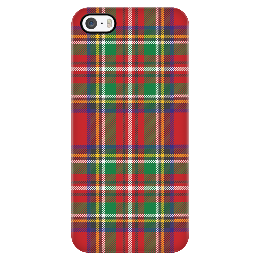Red and Green Plaid Phone Case - Tulle and Twig