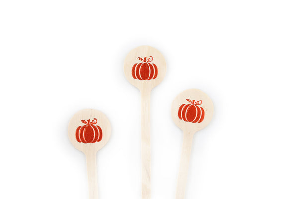 Beautiful Pumpkin -Fall Drink Stirrers
