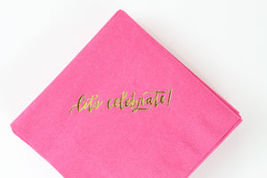 let's celebrate! Cocktail Napkins