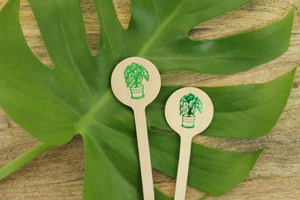 Alocasia Houseplant Drink Stirrer