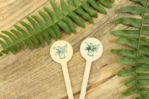Staghorn Fern House Plant Drink Stirrer