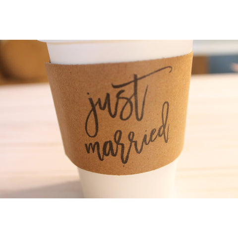 just married coffee sleeve