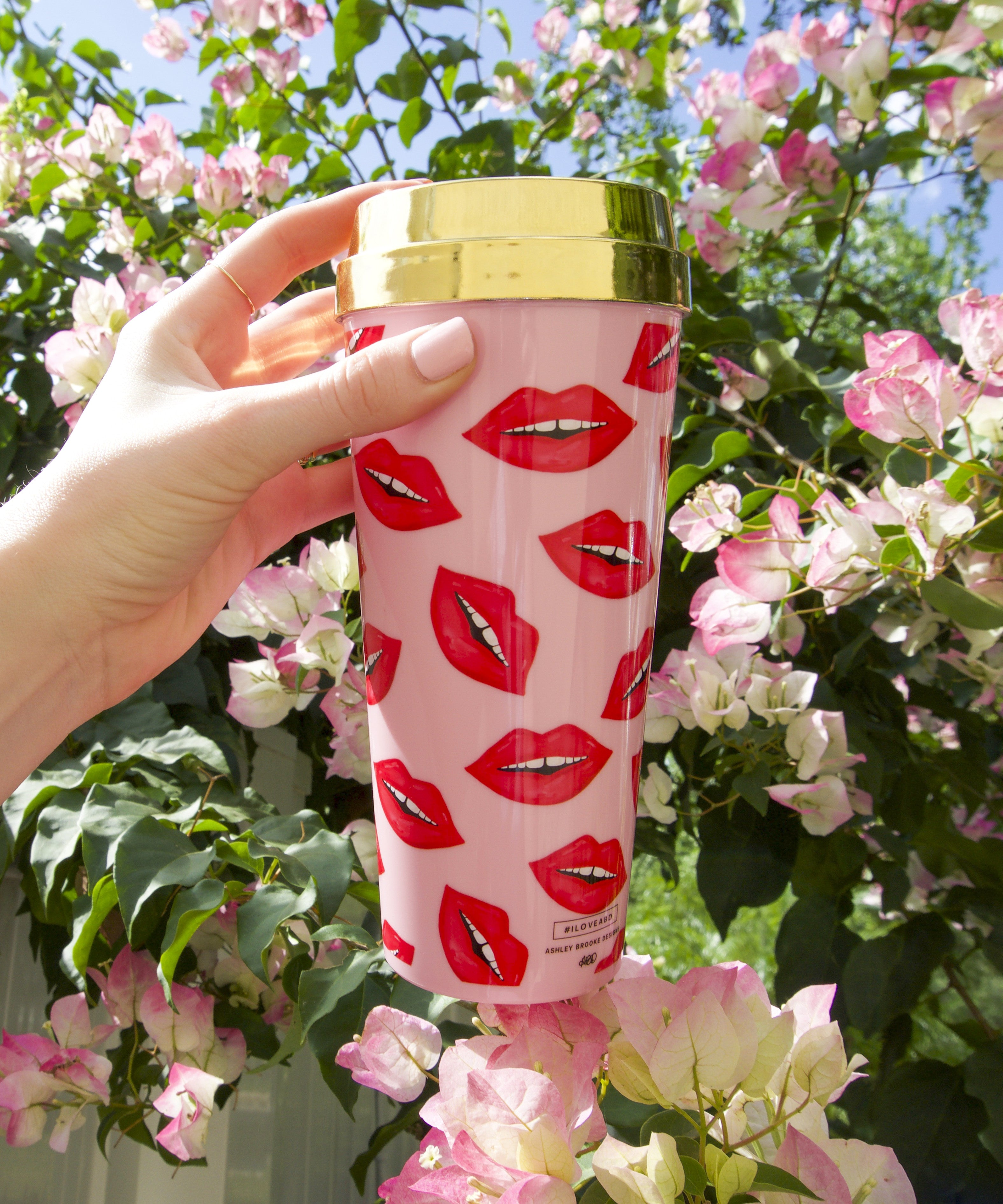 Lip Print Travel Mug Tumbler - Tulle and Twig