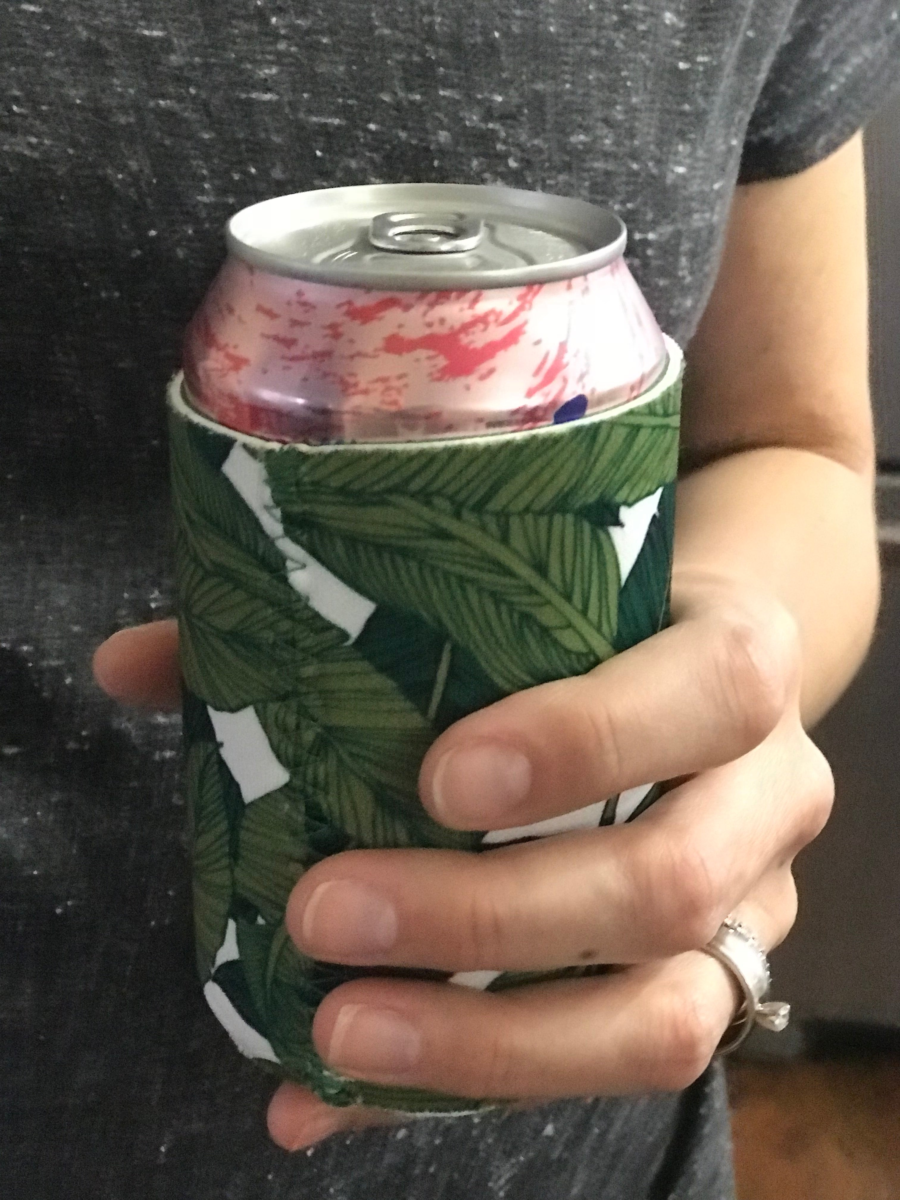 Palm Print Can Koozie - Tulle and Twig