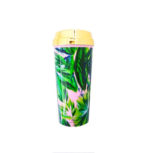 Palm Leaf Travel Mug - Tulle and Twig