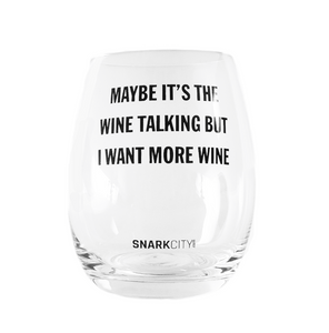 Maybe its the Wine talking....  Stemless Wine Glass - Tulle and Twig