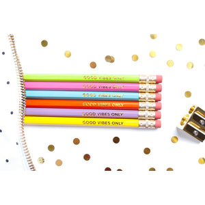 Good Vibes Only, Set of 6 pencils - Tulle and Twig