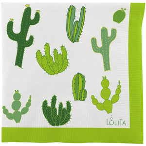 Fun Cactus Printed Cocktail Napkins - Tulle and Twig