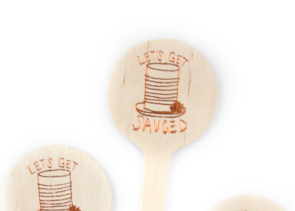 Let's Get Sauced - Thanksgiving Drink Stirrers