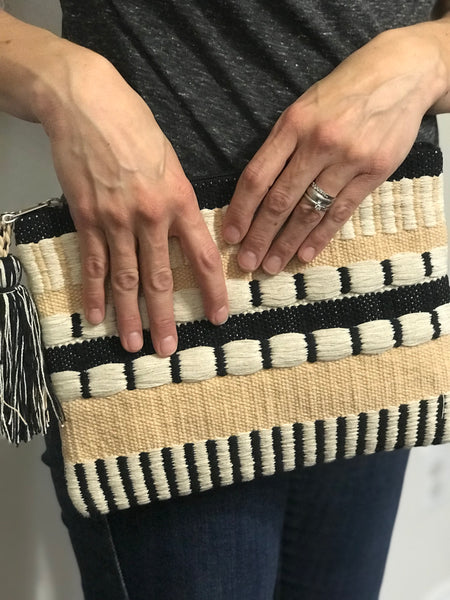 Norris Cotton Woven Clutch - Tulle and Twig