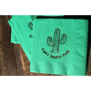 can't touch this, cactus party napkin