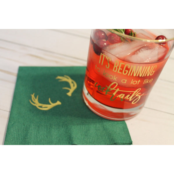 25  Antler Cocktail/Beverage Napkins FREE SHIPPING - Tulle and Twig