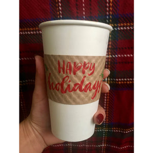 Happy Holidays  design Coffee Sleeves - Tulle and Twig