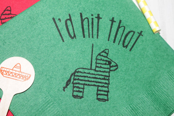 I'd hit that Cocktail or Beverage Napkins Piñata Fiesta Party