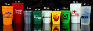 Fully Customizable Stadium Party Cups -  You Choose Your own Fonts and Designs!