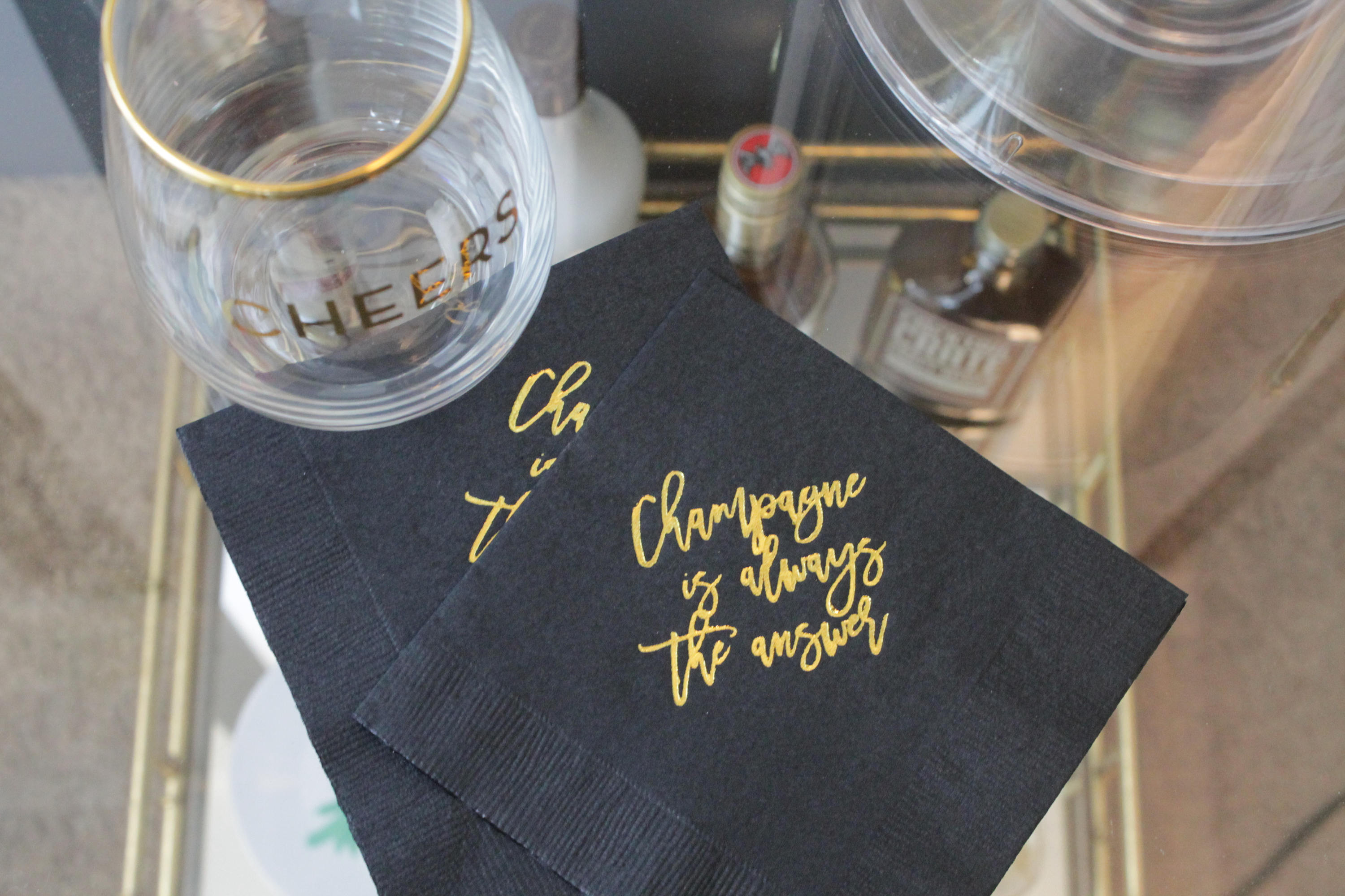 Champagne is always the answer Cocktail/Beverage Napkins