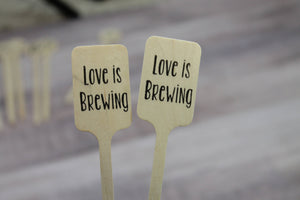 Love is Brewing Drink Stirrers