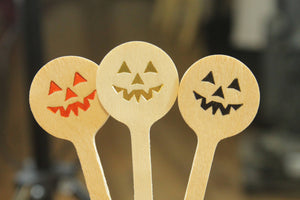 Pumpkin face Drink Stirrers