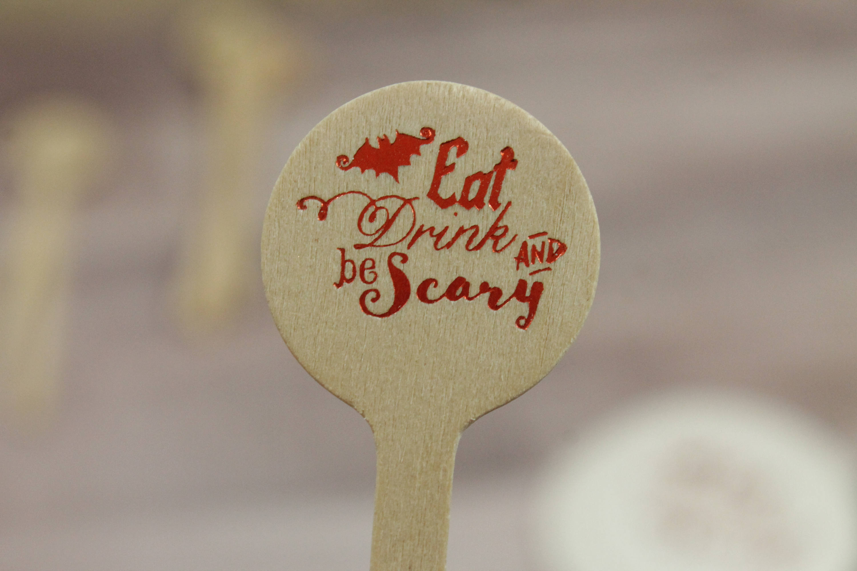 Eat Drink & Be Scary Drink Stirrers