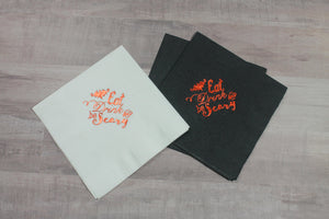 Eat Drink & be Scary  Paper Napkins