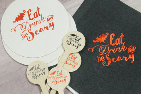 Eat Drink & be Scary Coasters