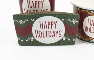 Happy Holidays - Ugly Christmas Sweater Coffee Sleeve