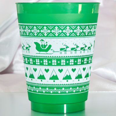 Christmas Sweater Pattern Shatterproof Cups