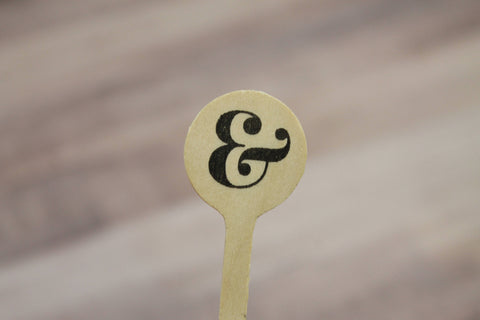 "Ampersand  ""&"" symbol  Drink Stirrers"