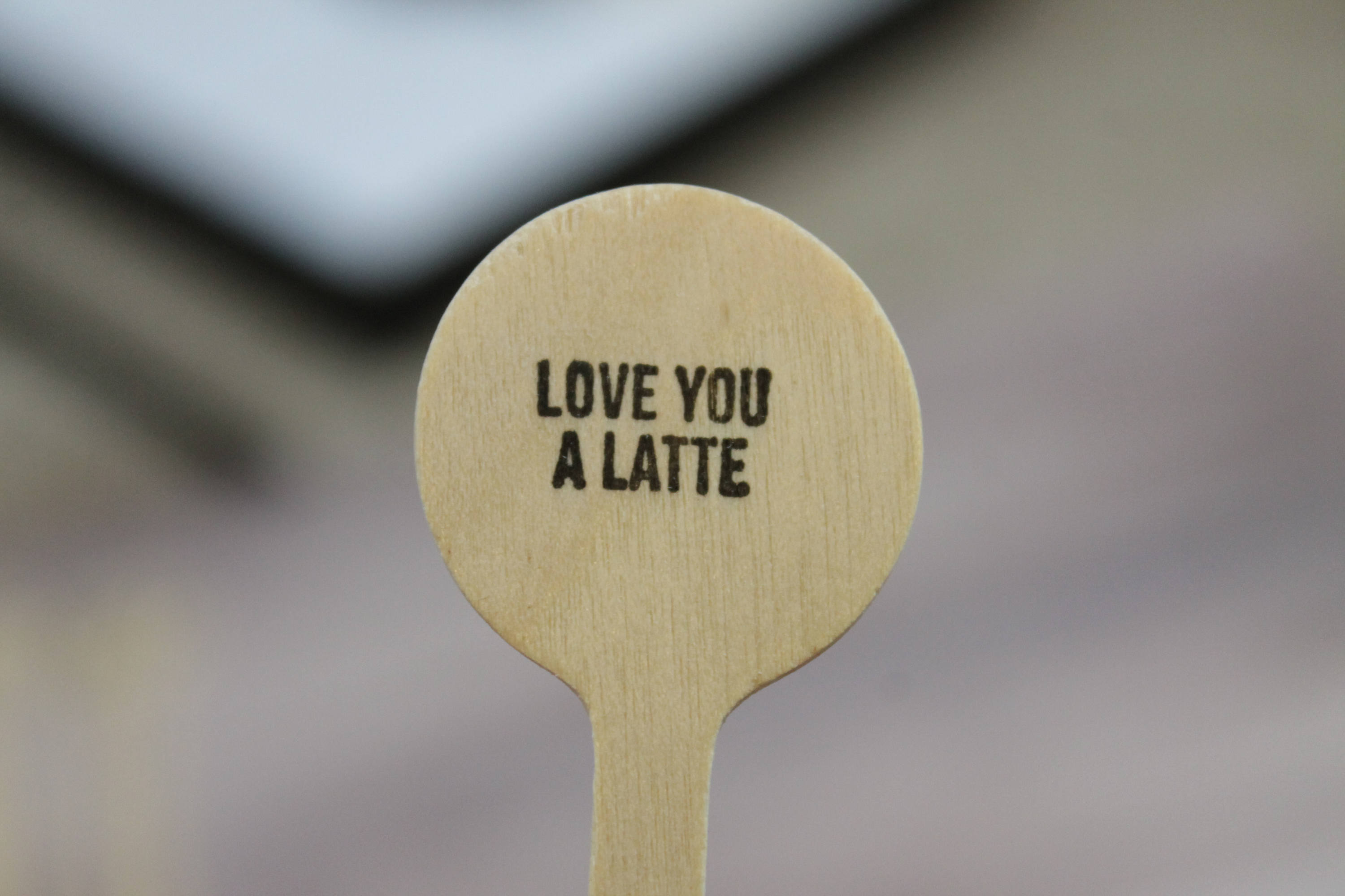 Love you a Latte Drink Stirrers