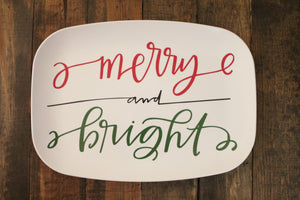 Merry and Bright Melamine Platter