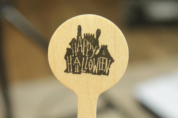 Haunted House and Ghost Drink Stirrers