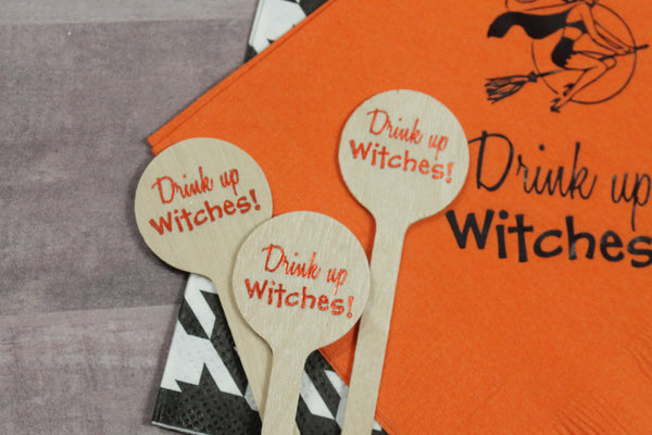 Drink Up Witches!  & Witches Drink Stirrers