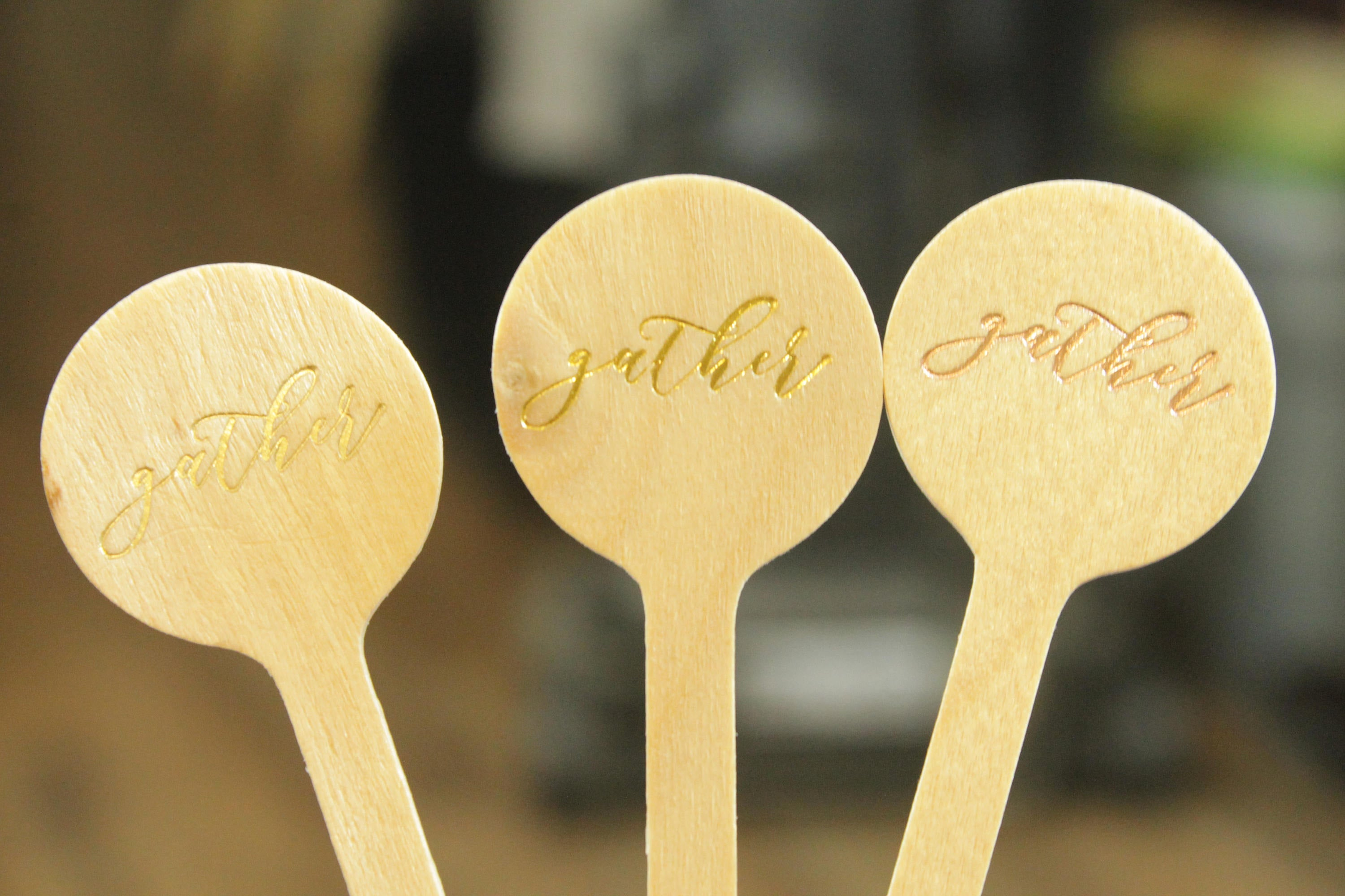 gather script Thanksgiving Drink Stirrers