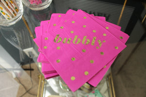 bubbly polka dots Beverage Napkins