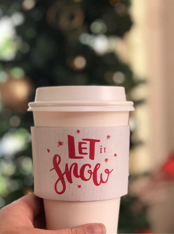 Let it snow Coffee Sleeve