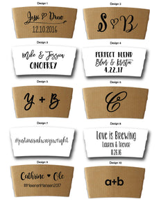 PERSONALIZED COFFEE SLEEVES  ~ FREE SHIPPING - Tulle and Twig