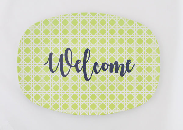 Welcome Melamine Platter