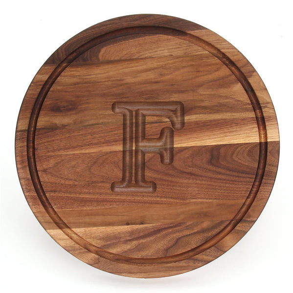 Engraved Monogram Walnut Cutting Board