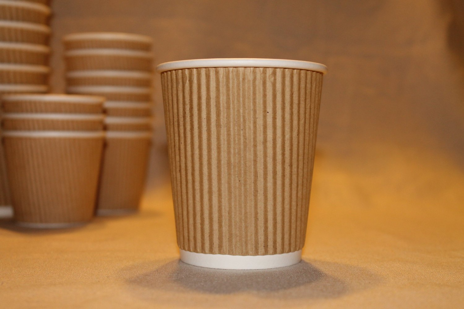12 oz Kraft Ripple Paper Cups