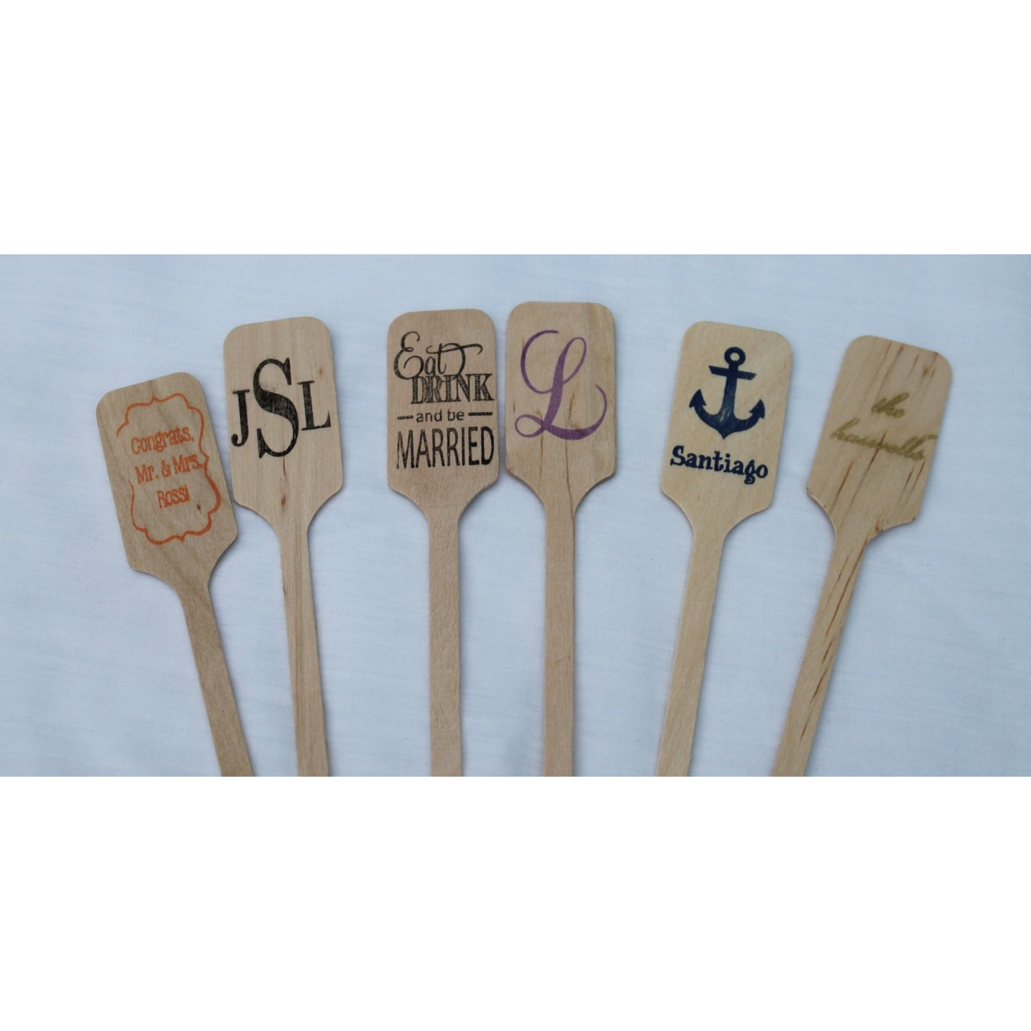Keep Calm and Drink Up - Wooden Coffee or Drink Stirrers Great for Weddings - Tulle and Twig
