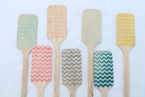 Chevron Wooden Coffee or Drink Stirrers Great for Weddings  ANY COLOR
