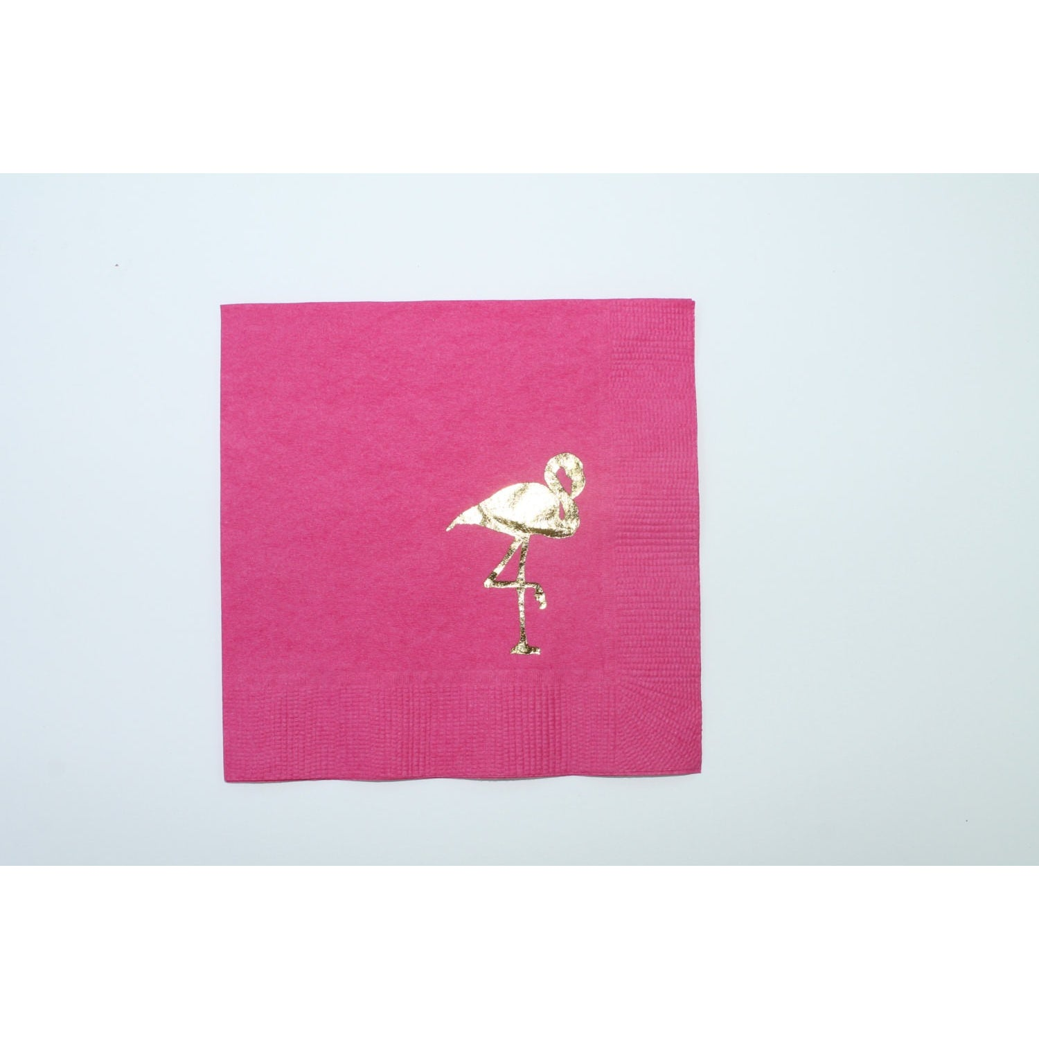 25 Flamingo Gold Foil Cocktail Napkins FREE SHIPPING - Tulle and Twig