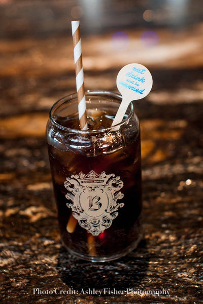 Eat, Drink and be Married Wooden Drink Stirrers