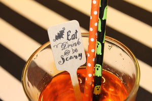Eat Drink be Scary Halloween Drink Stirrers