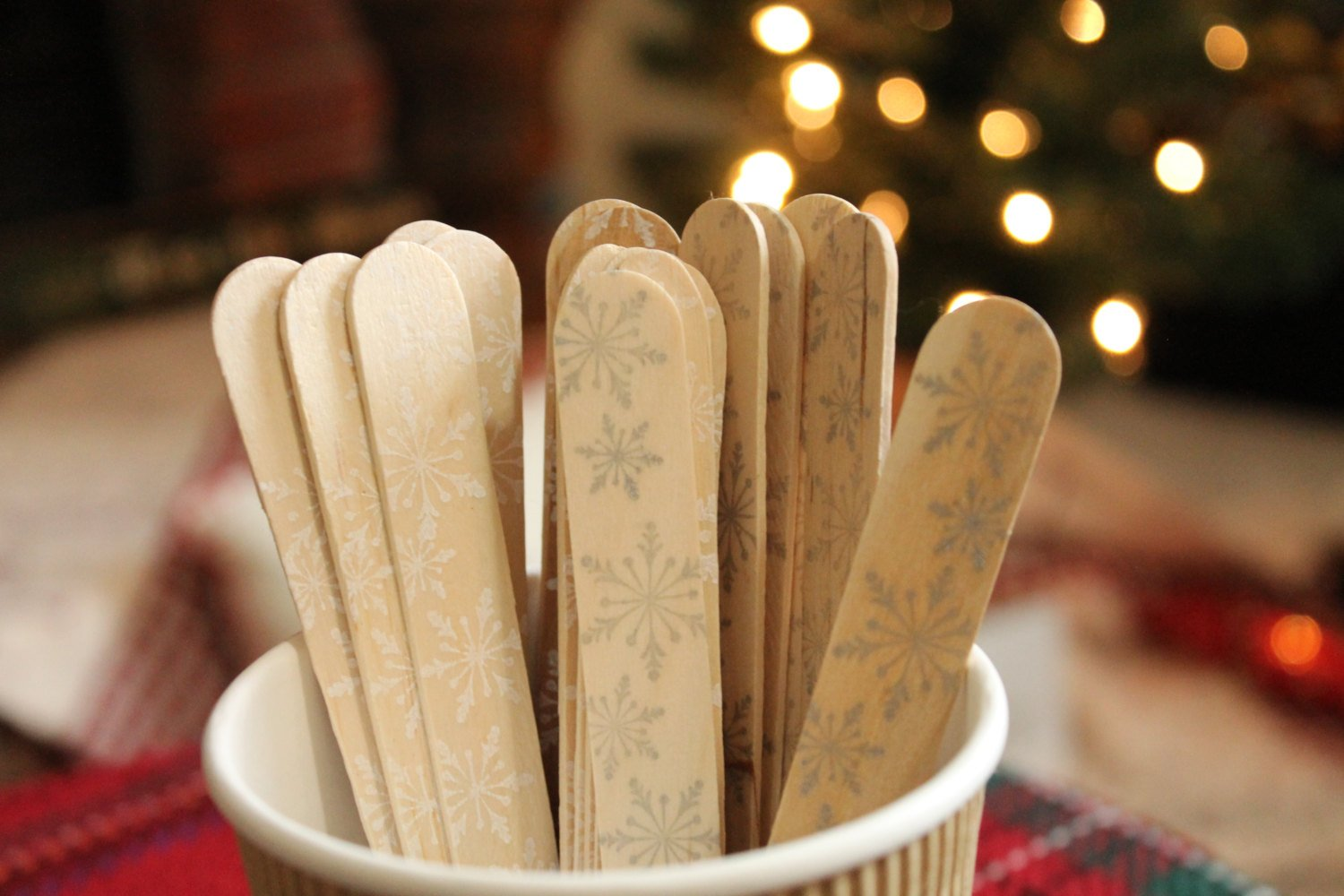 Snowflake Wooden Cutlery