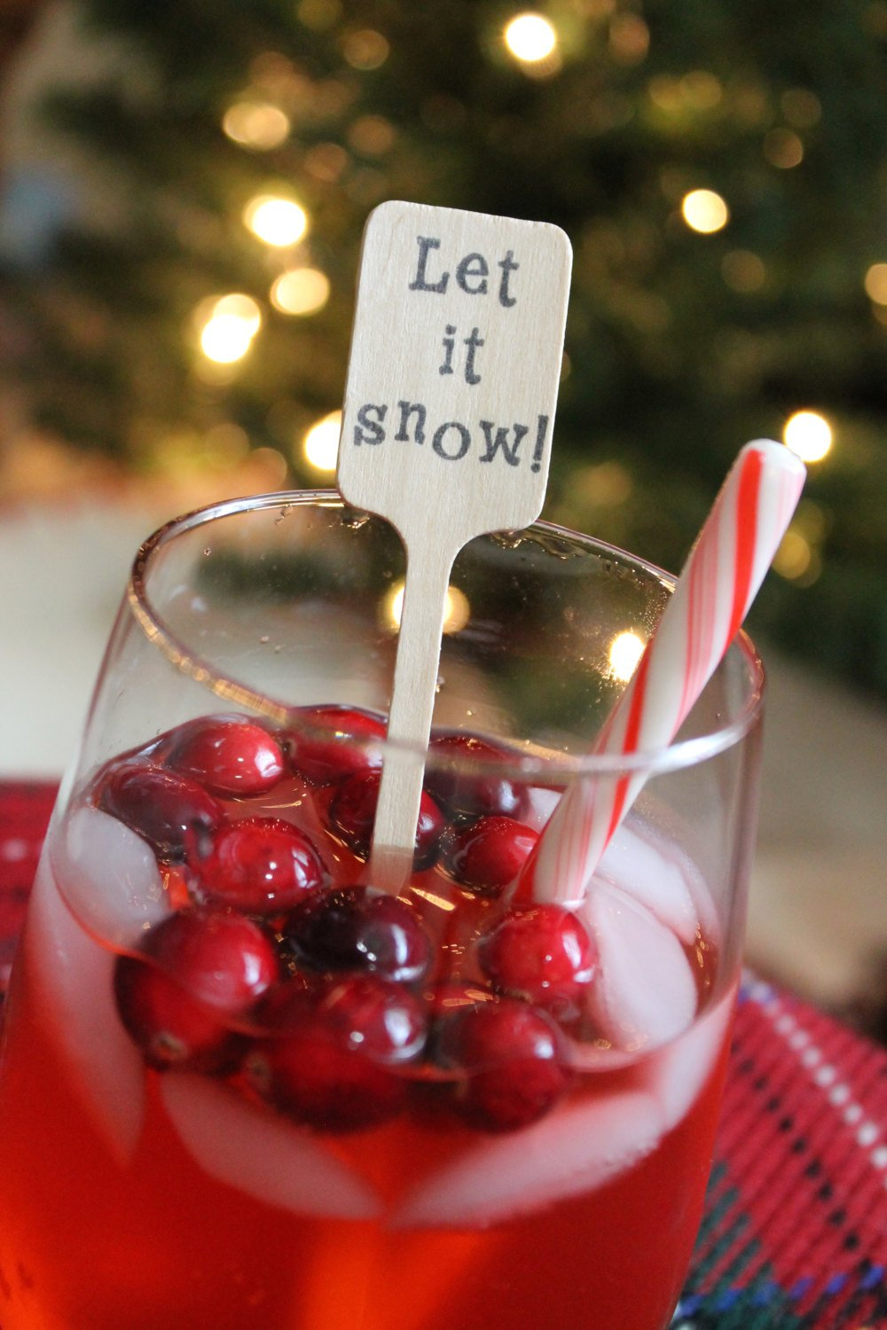 Let it Snow Wooden Coffee or Drink Stirrers