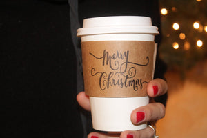 Merry Christmas Coffee Sleeves