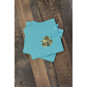25  Tropical Monstera Leaf Cocktail/Beverage Napkins FREE SHIPPING - Tulle and Twig